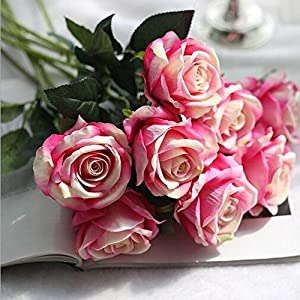 XIAOHESHOP XHSP 24 pcs Real-Touch Artificial Rose Flowers Home Wedding Party Decor 69