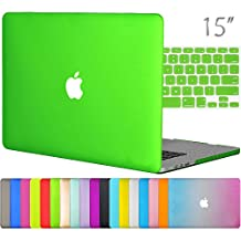 "Easygoby 2in1 Case For Retina 15-Inch - Matte Silky-Smooth Soft-Touch Hard Shell Case Cover For MacBook Pro 15.4"" With Retina Display NO CD-ROM Drive (Fits Model: A1398) + Keyboard Cover - Deep Green"