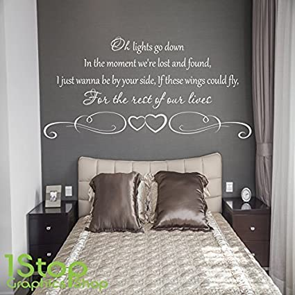 1Stop Graphics Shop - BIRDY WINGS WALL STICKER - BEDROOM LOUNGE WALL ART  DECAL X411 - Colour: Black - Size: Large