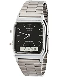 AQ-230A-1D Casio Silver & Black Dual Time Watch - Silver...