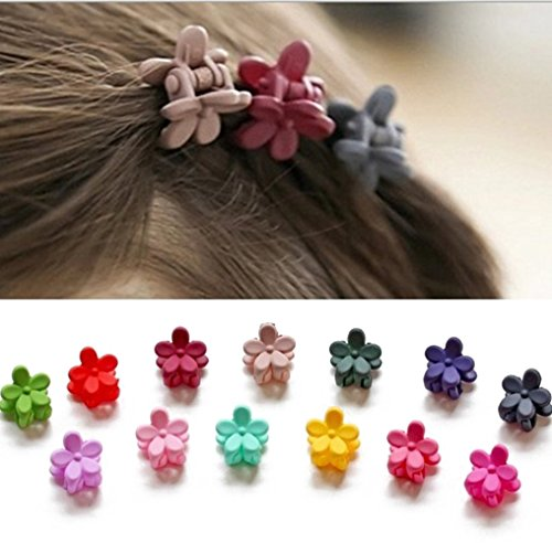 (30 Pack) IFfree bangs mini hair claw clip hair pin for little girls Random Assorted colored