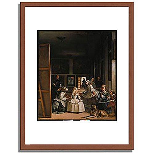 ベラスケス「ラスメニーナス Las Meninas (The courtladies). 」 インテリア アート 絵画 プリント 額装作品 フレーム:木製(茶) サイズ:L (412mm X 527mm) B00NEDNE9E 3.L (412mm X 527mm)|1.フレーム:木製(茶) 1.フレーム:木製(茶) 3.L (412mm X 527mm)