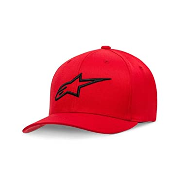 ef6157bd206 Alpinestars Men s Logo Flexfit hat Curved Bill Structured Crown Baseball Cap