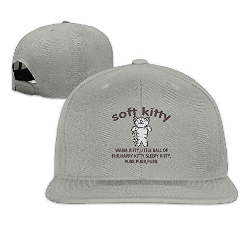 Big Bang Theory Soft Kitty Snapback Caps Flat Brim Baseball Hat