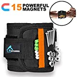 Magnetic Wristband for 15 Super Strong Magnets, Magnetic Wrist Band Tool Belt With Super Strong...