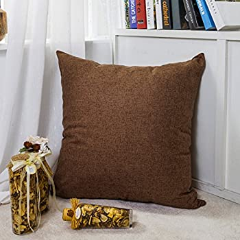 Amazon Com Creative Luxury Faux Suede Pillow Cover Euro