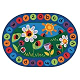 Carpets for Kids 2008 Circletime Ladybug Kids Rug Size: Oval x x, 8'3'' x 11'8'', Blue