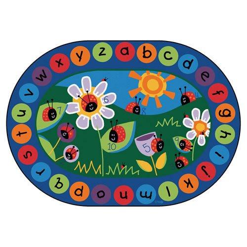 Carpets for Kids 2006 Circletime Ladybug Kids Rug Size: Oval x x, 6'9'' x 9'5'', Blue