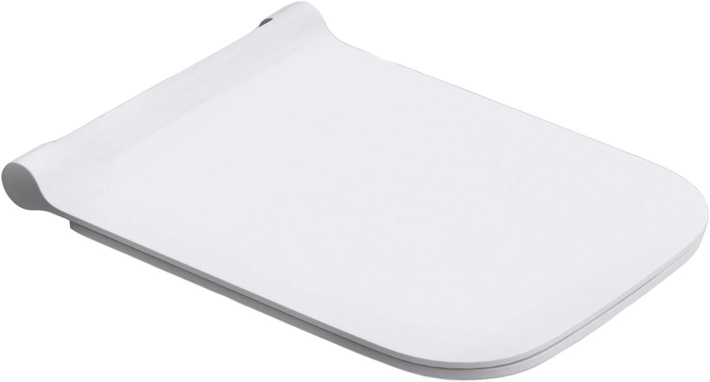 Durovin Bathrooms Soft Close Toilet Seat - Square Shape Ultra Slim Design - Quick Release - 345 x 440 x 20mm (WxDxH)