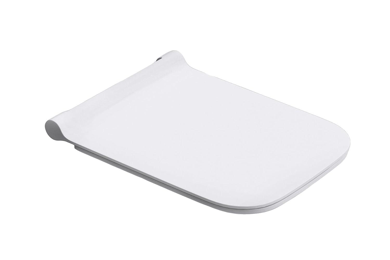 Durovin Bathrooms Soft Close Toilet Seat | Square Shape Ultra Slim Design | Quick Release | 345 x 440 x 20mm (WxDxH)
