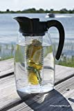Flavor It 2.9 Qt Infusion Pitcher 3-in-1 Beverage System Black