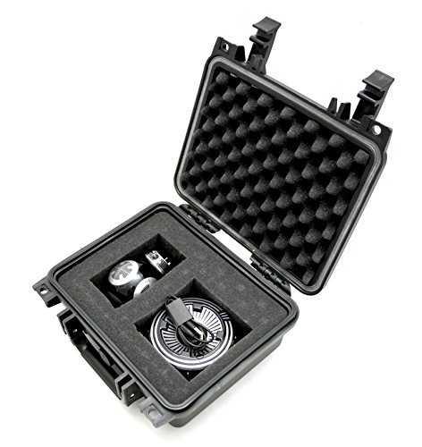CASEMATIX Collector Case Designed For Sphero BB-9E App-Enabled Droid with Droid Trainer - Waterproof BB9 Carry Case With Protective Foam Compartments For Droid , Charger and Trainer