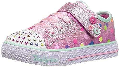 Skechers Kids Twinkle Toes Sparkle Glitz Sneaker - Pink -...