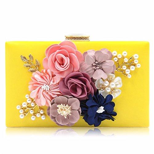 kaoling Bolso Embrague para Mujer Bolsos Noche para Mujer Negro Bolsas Embrague para Mujer Royal Blue Day Bolso Boda Rosa para Mujer Light Pink Yellow