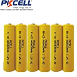 6 Pack AAA 1.2V NiCd NiCad 400mAh Rechargeable Batteries Button Top for Solar/Garden Lights