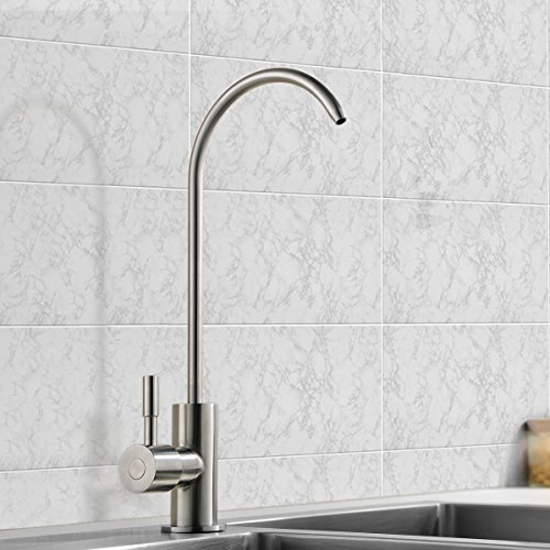 VCCUCINE Modern Antique Stainless Steel Single Handle Kitchen Sink Reverse Osmosis Filter Drinking Water Brushed Nickel Purifier Faucet, Beverage Water Filtration Faucet by VCCUCINE (Image #1)