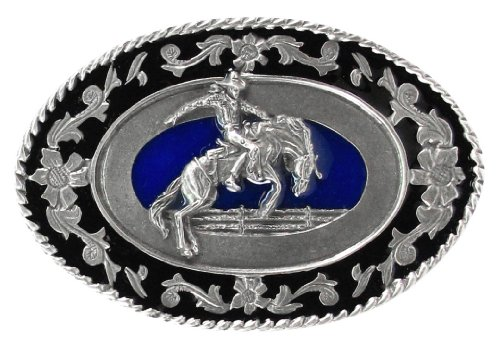 Pewter Belt Buckle - Rodeo Cowboy - Bronco Riding
