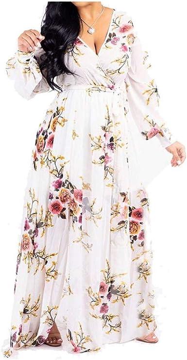 Womens Bohemian Flower Print Beach Wear Chiffon Lace Long//maxi Skirt Sundress