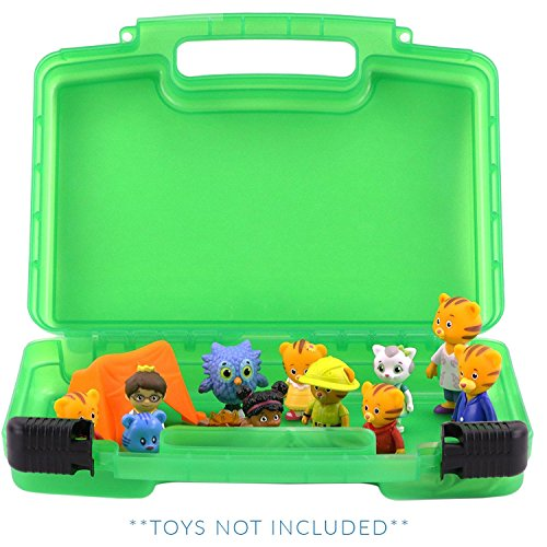 Life Made Better Daniel Tiger Case, Figurines and Accessories Organizer and Carrying Case, Green