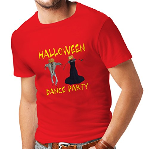 T shirts for men COOL Halloween party events costume ideas, (Medium Red Multi Color)