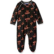 Outerstuff MLB Infant Orioles Sleepwear All Over Print Zip Up Coverall, 18 Months, Black
