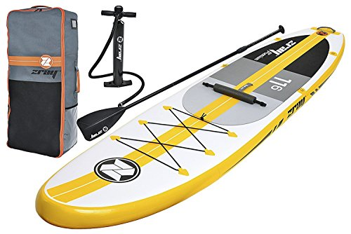 Z-Ray A4 11'6'' Touring SUP Stand Up Paddle Board Package w/ Pump, Paddle, Footrest and Travel Backpack, 6'' Thick by Zray