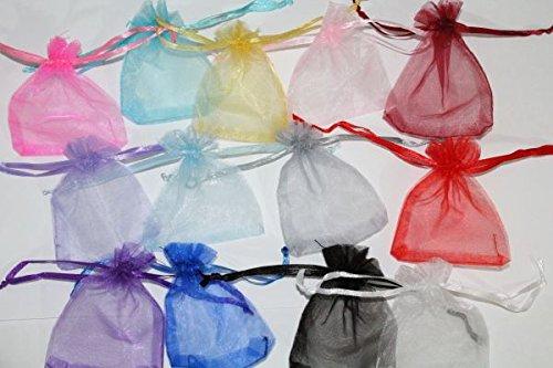 50 varios bolsa de Organza (12 cm x 9 cm) por RP, tienda de artesanía