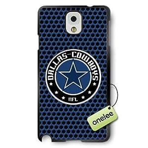 NFL Dallas Cowboys Team Logo Samsung Galaxy Note 3 Black Rubber(TPU) Soft Case Cover - Black