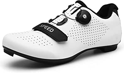 Cycling Shoes Men Road Cycling Mountain Biking SPD/SPD-SL Compatible MTB Quick Lock Spinning Cleat Indoor Exercise Bike Breathable Stable Comfortable Rider Shoes All-Surface Riding