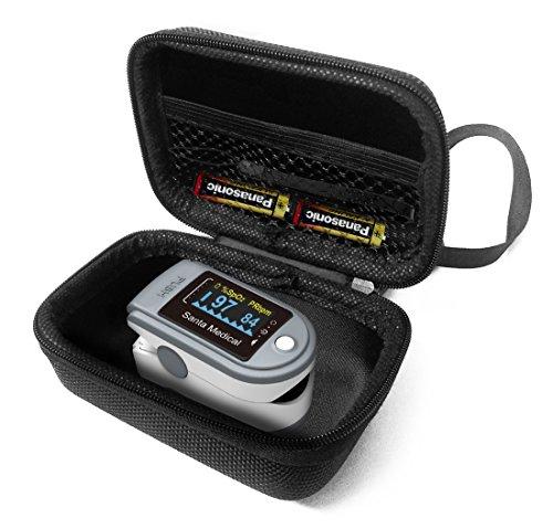FitSand(TM) Carry Protective Zipper Travel Portable EVA Hard Case Cover Bag Box for Santamedical Generation 2 SM-165 Fingertip Pulse Oximeter