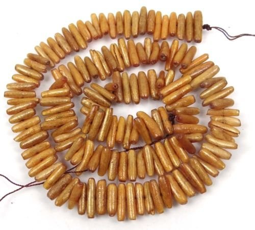 - 12x3mm Natural Golden Sponge Coral Branch Beads 16''