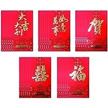 Chinese Red Envelopes Lucky Money Envelopes 2018 Chinese New Year Dog Year Envelopes (30 Envelopes - 5 Designs)