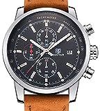 Carlien Luxury Day Date Luminous Hour Clock Male Casual Quartz Watch Men Sport Wristwatch
