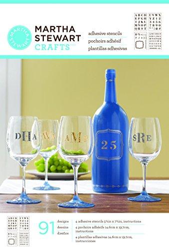 Martha stewart letter stencils compare prices at nextag plaid martha stewart crafts glass adhesive stencil 33270 spiritdancerdesigns Images