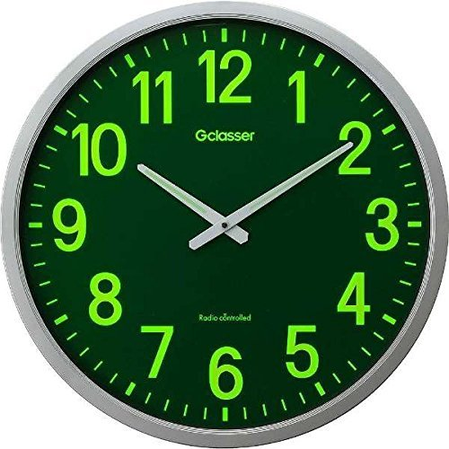 キングジム 電波掛時計 ザラージ 集光蓄光文字盤 GDKS−001 B079FVVPZB集光蓄光文字盤 GDKS001