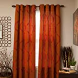 Somerset Home Metallic Window Panel Grommet Curtains, Set of 2 (Rush) For Sale