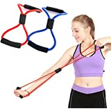 Odowalker Exercise Band Training Resistance Bands Rope Tube Workout Fashion Body Building Fitness Equipment Tool for Home Gym Workout, Yoga, Pilates, Arms Pull Up Strength Training - Pack of 2