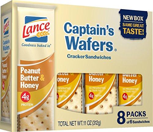(Lance Honey on Captain Wafers Sandwich Crackers, Peanut Butter, 11 oz)