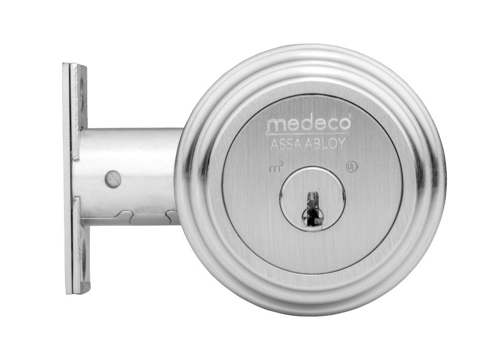 Medeco 11R522-19-2 Maxum Deadbolt, Double Cylinder, Satin Nickel Finish, 2-3/4'' Backset, 1-1/8'' Faceplate (Pack of 2)