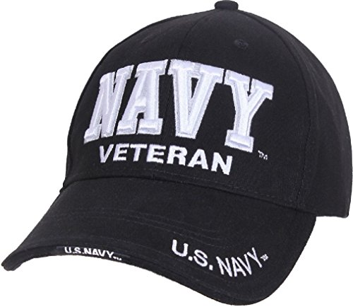 Black Deluxe US Veteran Low Profile Baseball Cap Hat: Choose Army Navy Marines (Deluxe Tri Fold Shovel)