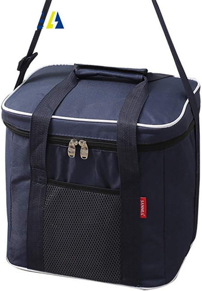 ZYNWW 20L ランチバッグ 再利用可能なランチボックス ピクニッククーラーバッグ 男女兼用 調節可能なショルダーストラップ (29×23×28cm)。 ブルー 109-514-811