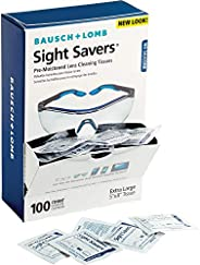 Bausch & Lomb BAL8574GM Pre-Moistened Lens Cleaning Tissues, Box of 100 - Packaging May Vary, M