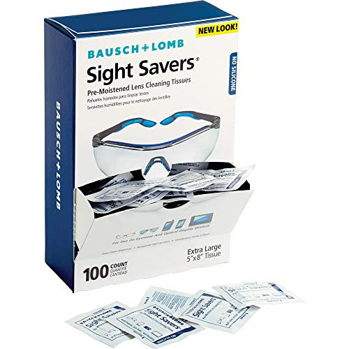 Lens Cleaning Wipes by Bausch & Lomb, Pre-Moistened Tissues, Anti-Fog, Anti-Static, Anti-Streaking, Cleans Glass and…