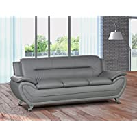 U.S. Livings Anya Contemporary Modern Living Room Sofa (Gray)