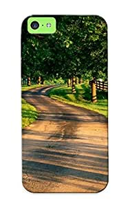 BbRZu0pNxoV Awesome Trees Roads Flip Case With Fashion Design For Iphone 5c As New Year's Day's Gift