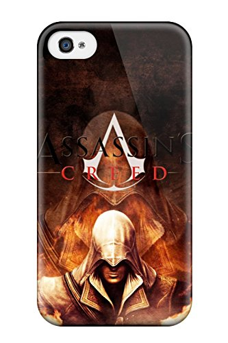Fashion Protective Assassinscreedfire Case Cover For Iphone 4/4s