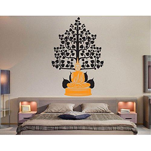 buddha-under-the-bodhi-tree-art-wall-sticker-vinyl-decal-wd-0689