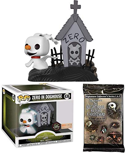 Chase Glow Ghost Dog Zero Vinyl Figure Movie Moments in Doghouse (BoxLunch Exclusive): The Nightmares Before Christmas Limited Edition with Trading Cards 2 Items -