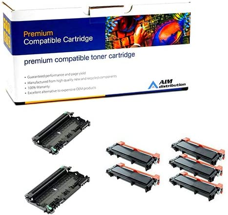2ea-12000 Page Yield//5ea-5200 Page Yield AIM Compatible Replacement for Brother DR-6302PK//TN-630X5PKVB Drum//Jumbo High Yield Toner Value Combo Pack Generic
