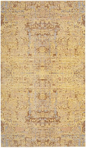Safavieh Mystique Collection MYS971C Vintage Watercolor Gold and Multi Distressed Area Rug (3' x 5')